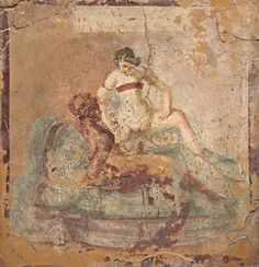 Fragment of wall painting with erotic scene, from Pompeii, Naples National Archaeological Museum | Flickr - Photo Sharing!