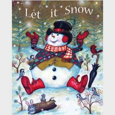 Snow Pals, snowmen, snowman art from master painter of all things Christmas, Joseph Holodook Snowman Snow Globe, Christmas Snowman, Winter Christmas, Vintage Christmas, Christmas Crafts, Illustration Noel, Christmas Illustration, Snowmen Pictures, Christmas Pictures