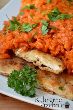 Piersi z kurczaka w warzywach a'la ryba po grecku Yummy Food, Tasty, Delicious Meals, Polish Recipes, Salmon Burgers, Food And Drink, Healthy Eating, Cooking Recipes, Favorite Recipes