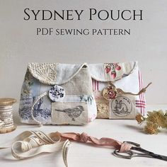 Sydney pouch PDF sewing pattern to sell ideas craft fairs Sydney pouch PDF sewing pattern Fabric Crafts, Sewing Crafts, Sewing Projects, Sewing Basics, Sewing Hacks, Basic Sewing, Free Sewing, Pouch Pattern, Creation Couture