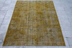 vintage over-dyed rug 177x273cm 5.8x8.9ft by galleryboga, $338.00 USD
