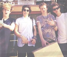 Hiii guys. If any of you out there know who these lads are maybe you'd like to join my The Vamps fan board so we can all fangirl together? If you don't know them they're a band who make awesome music and they're awesome. You guys should check them out or something  comment if you wanna join the board..... k by