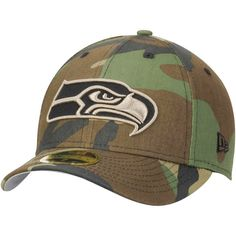 Seattle Seahawks New Era Woodland Camo Low Profile 59FIFTY Fitted Hat - $27.99
