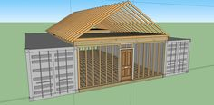 12 Steps How To Build a Cozy Solar Powered Shipping Container Cabin with Living Roof – Off Grid World - Container Häuser Shipping Container Buildings, Shipping Container Home Designs, Shipping Container House Plans, Shipping Containers, Container Home Plans, Container Shop, Storage Container Homes, Building A Container Home, Cargo Container Homes