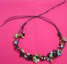 Handmade Jewelry   Handmade jewelry: Fancy bracelet in turquoise and silver beats