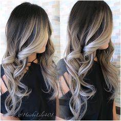 brown to silver ombre hair - Recherche Google