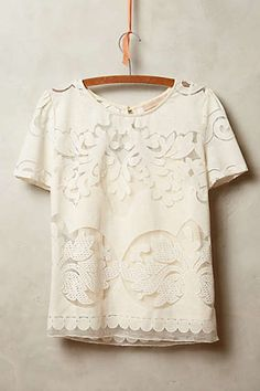 Anthropologie - Lace Opacity Tee
