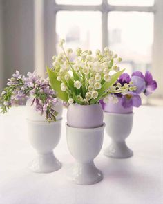 Pretty Parissienne Egg Cup Bouquets