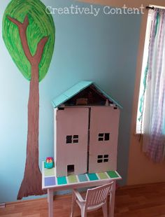 Creatively Content: DIY Dollhouse play helped soften a heart. (new pics)