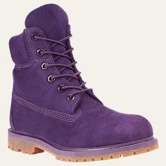 Timberland's women's boot collection spans from tall leather boots to heeled ankle boots to rugged waterproof hiking boots – a pair for every adventure. Purple Timberland Boots, Timberland Waterproof Boots, Purple Boots, Timberland Outfits, Yellow Boots, Waterproof Shoes, Baskets, Hiking Boots Women, Shoe Company