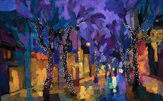 Larisa Aukon. Jazz in the Background_20 x 32_oil. Paul Scott Gallery