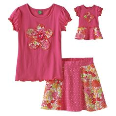 @11Main Girl and Doll Matching: Dollie & Me Girl and Doll Matching Outfit  ** Doll outfit fit's dolls up to 18 inches such as A...