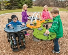 Sway Fun is a fully accessible outdoor play glider from Landscape Structures for ages 2 to Wheelchair accessible commercial playground equipment.