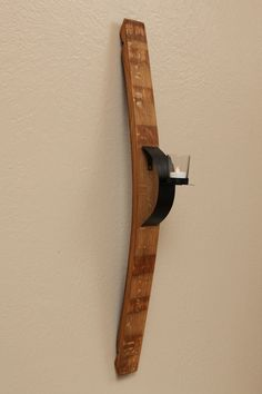 Wine stave sconce with curved front