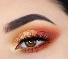 56 Best Sexy and Stunning Orange Makeup Hacks 💕 for Prom and Weekend Party 😊 - Diaror Diary - Page 29 ♥𝕴𝖋 𝖀 𝕷𝖎𝖐𝖊, 𝕵𝖚𝖘𝖙 𝕱𝖔𝖑𝖑𝖔𝖜 𝖀𝖘!♥ ♥ ♥ ♥ ♥ ♥♥ Everythings about orange Eye makeup tips for you! Orange Eyeshadow Looks, Makeup Looks For Brown Eyes, Eyeshadow For Brown Eyes, Burnt Orange Eye Makeup, Copper Eyeshadow, Bright Eyeshadow, Colorful Eyeshadow, Eye Makeup Tips, Makeup Hacks