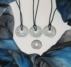 How do you do this again?: Project #29 The Stamped Washer Necklace Tutorial