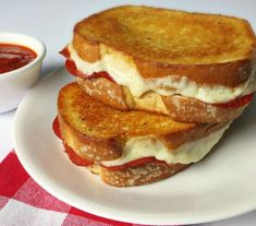 Oven Baked Pizza Grilled Cheese Sandwiches