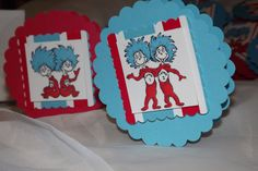 Dr. Seuss Favor Clip with Bag Thing 1 and Thing 2