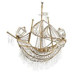 Spectacular and Rare Venetian Chandelier in the Form of a Ship