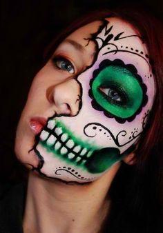 Beautiful Dia de los Muertos sugar skull design.