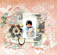 My Creative Scrapbook March Limited Edition kit created by Maiko Kosugi.