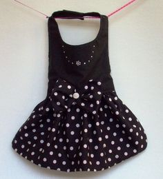 Dog Dresses: Black and White Polka Dot Fantasy Dress for Dog Clothes