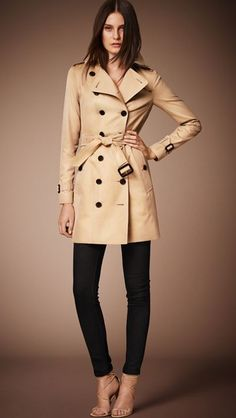 d45d26964e The Sandringham – Mid-length Trench Coat in Honey - Women