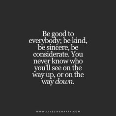 Be Good to Everybody