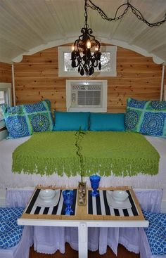 Luv the wood wall and simplicity of colors Hobbit Hutch