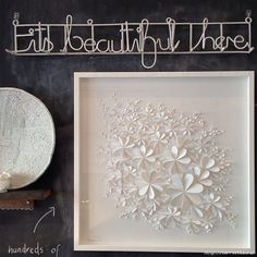 White 3D Flower wall art