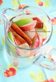 how to make apple flavored water