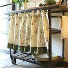 130cm Valance Blue Stripe Crochet Cotton Lace Home Kitchen Window Cafe Curtain   eBay Half Curtains, Check Curtains, Window Sheers, Short Curtains, Valance Curtains, Sheer Valances, Kitchen Curtains, Curtain Fabric, Lace Design