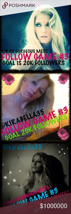 @kirabella35💋FOLLOW GAME #3💋KIRA'S GORGEOUS MESS @kirabella35💋FOLLOW GAME #3💋KIRA'S GORGEOUS MESS 🍸💋🍸PLEASE FOLLOW THIS LISTING🍸💋🍸SHARE THIS LISTING WITH ALL YOUR PFF'S🍸💋🍸FOLLOW EVERYBODY THAT FOLLOWS ME🍸💋🍸💋🍸💋🍸💋🍸💋🍸💋🍸💋🍸💋🍸💋🍸LETS ALL SPREAD THE LIGHT AND LOVE PFF'S🍸💋🍸GOAL IS 20K FOLLOWERS🍸💋🍸 Wild Orchid Boutique Other
