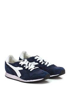 DIADORA Heritage - Sneakers - Uomo - Sneaker in camoscio, pelle e tessuto tecnico con suola in gomma, tacco 20, platform 10 con battuta 10. - NAVY - € 165.00