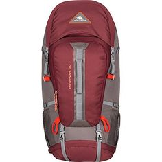 High Sierra Pathway 60L Hiking Pack (Cranberry/Slate/Redrock) bestcampingtent.r...