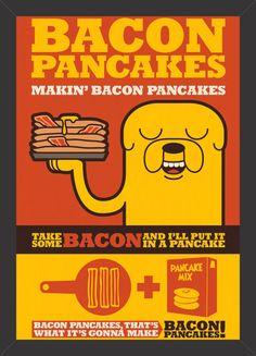 Hora de Aventura - Bacon Pancakes - Tcholos - A sua loja de quadros decorativos