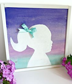 Use new Martha Stewart® Soft Gel Watercolor Acrylic Paint to make this Ombre Watercolor Silhouette. A simple and personalized gift idea for your home.