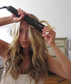 How to Create Beach Waves Using a Flat Iron