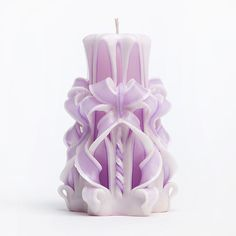 Carved Candles  Purple Candles  Perfect gift  by AmeliaCandles