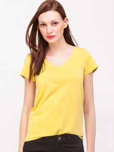 KOOVS V Neck Tshirt Trendy Tops For Women, T Shirts For Women, Tee Shirts, Tees, Tshirts Online, Jogging, V Neck, Casual, Fashion