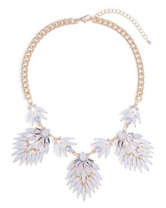 Blanc Feather Necklace - JewelMint  Just bought this! Can't wait for it to get here.