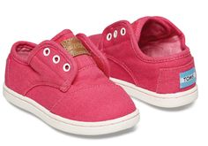Loving this Fuchsia Canvas Classic Paseos - Tiny on Baby E, Baby Kids, Tiny Toms, Children In Need, New Shoes, Little Girls, Baby Shoes, Girl Outfits, Canvas