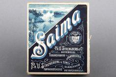Forssan museo. Strengbergin tupakkatehtaan Saima - savukerasia. Strengbergin tupakkatehdas perustettiin vuonna 1762 Pietarsaareen ja se oli 1920-luvulla Suomen ja jopa Pohjoismaiden suurin tupakkatehdas.