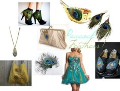 Peacock Feathers!, created by sfunkygirl on Polyvore