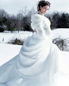 Robe de mariée reine des glaces    http://lifeeventsparis.files.wordpress.com/2011/11/mariagehiver1.jpg