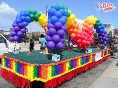 Aids Task Force Arch,   #Float #arch #balloon #rainbow #balloondecor…