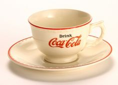 1930s Coke cup and saucer