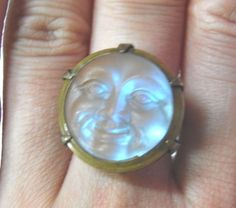 Antique Moon Face Saphiret Ring - La Perlerie*Ange(ラ・ペルリ*アンジェ)