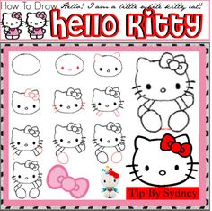 how to draw hello kitty by the lovely tipsters liked on