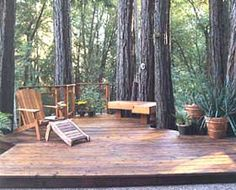 Have exposed tree roots in your yard? Build a deck over them to create an entertainment area.